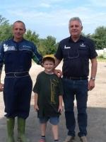 Angelo con Rezzola e figlio