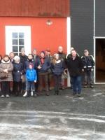 Angelo con amici in visita ad allevamenti in Svezia